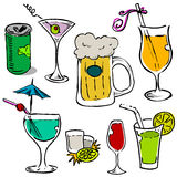 Alcohol glass vector. Set of alcohol glass vector Royalty Free Stock Photos