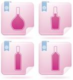 Alcohol glasses Stock Photo