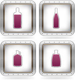 Alcohol glasses Royalty Free Stock Images