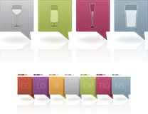 Alcohol glasses Stock Photo