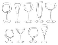 Alcohol glasses Stock Photography