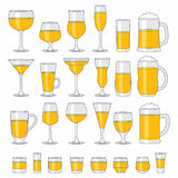 Alcohol glasses set Royalty Free Stock Photography