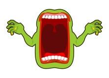 Alcohol hambriento enojado Gritos asustadizos del fantasma Frighte horrible del espectro stock de ilustración