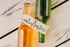 Alcohol hard affects health. stock images