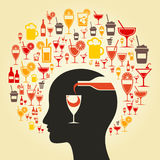 Alcohol a head Stock Photography