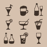 Alcohol an icon2 Royalty Free Stock Image