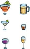 Alcohol Icons Royalty Free Stock Images