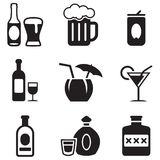 Alcohol Icons Royalty Free Stock Photo