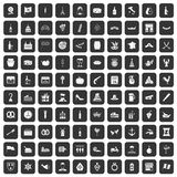 100 alcohol icons set black. 100 alcohol icons set in black color isolated vector illustration Vector Illustration