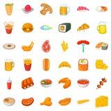 Alcohol icons set, cartoon style Royalty Free Stock Photo