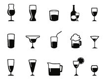 Alcohol icons set Stock Photos