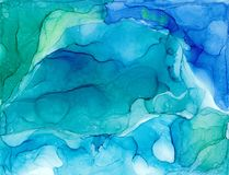 Alcohol ink air texture. Fluid ink abstract background. art for design stock images