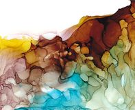 Alcohol ink air texture. Fluid ink abstract background. art for design royalty free stock image