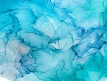 Alcohol ink sea texture. Fluid ink abstract background. art for design.  stock illustration