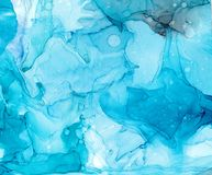 Alcohol ink sea texture. Fluid ink abstract background. art for design.  royalty free illustration