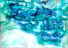 Alcohol ink texture. Fluid ink abstract background. art for design.  Royalty Free Stock Photos