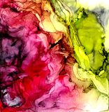 Alcohol ink texture. Fluid ink abstract background. art for design.  Royalty Free Stock Image