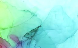 Alcohol ink vector bright color abstract background stock illustration
