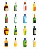 Alcohol Isometric Icon Set Royalty Free Stock Photos