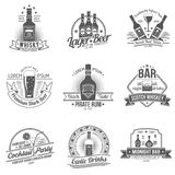 Alcohol Label Set Stock Images
