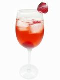 Alcohol liqueur cocktail with cherry Royalty Free Stock Image