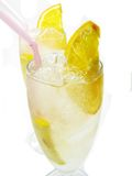 Alcohol liqueur cocktail with lemon Stock Images