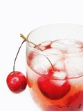 Alcohol Liqueur Cocktail With Cherry Royalty Free Stock Images