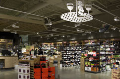 Alcohol liquor wine store grocery store Stock Images