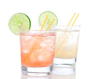 Alcohol margarita cocktails or long island Stock Photo