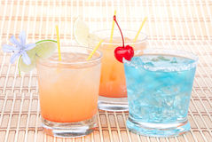 Alcohol margarita cocktails, long island Iced tea Royalty Free Stock Photography
