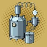Alcohol mashine pop art vector illustration Stock Image