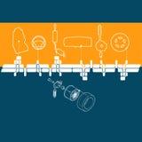 Alcohol mecánico stock de ilustración