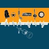 Alcohol mecánico ilustración del vector