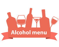 Alcohol menu Royalty Free Stock Photo