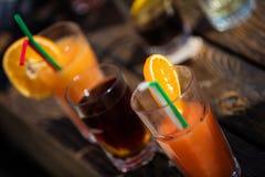 Alcohol orange daiquiri cocktail on beach bar Royalty Free Stock Photography