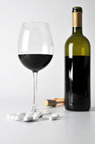 Alcohol and pills Stock Images