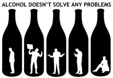 Alcohol problems Stock Photography
