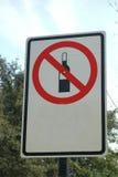 Alcohol prohibido Imágenes de archivo libres de regalías
