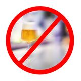 Alcohol prohibition sign. royalty free stock photography