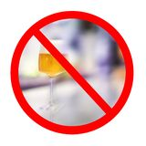 Alcohol prohibition sign. stock photography