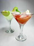 Alcohol punch cocktail drinks with mint Royalty Free Stock Photos