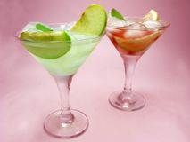 Alcohol punch cocktail drinks with mint Stock Images