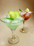 Alcohol punch cocktail drinks with mint Royalty Free Stock Image