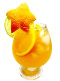 Alcohol punch cocktail drinks with orange Royalty Free Stock Images