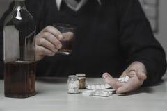 Alcohol que sorbe Fotografía de archivo