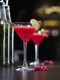 Alcohol raspberry cocktail Stock Photo
