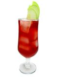 Alcohol red cocktail drink with apple Royalty Free Stock Photos