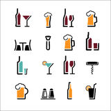 Alcohol set Stock Image