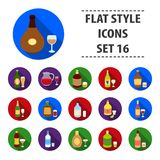 Alcohol set icons in black style. Big collection of alcohol vector symbol stock illustration Stock Images