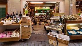 Alcohol shop in Logrono Stock Photos